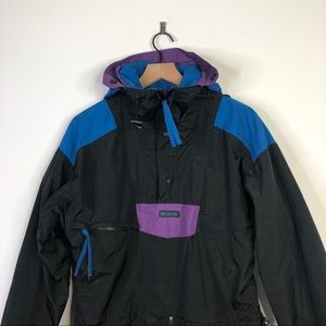 Vintage 90s Columbia Colorblock Windbreaker Jacket